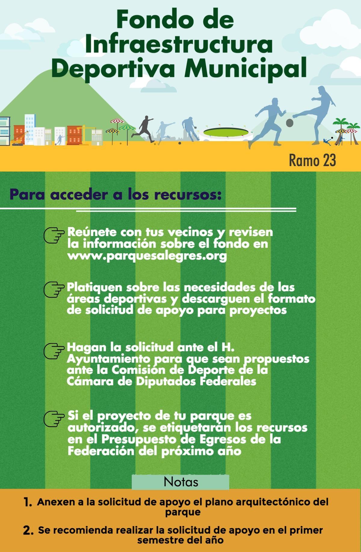 programa de infraestructura deportiva municipal  u2013 ramo 23