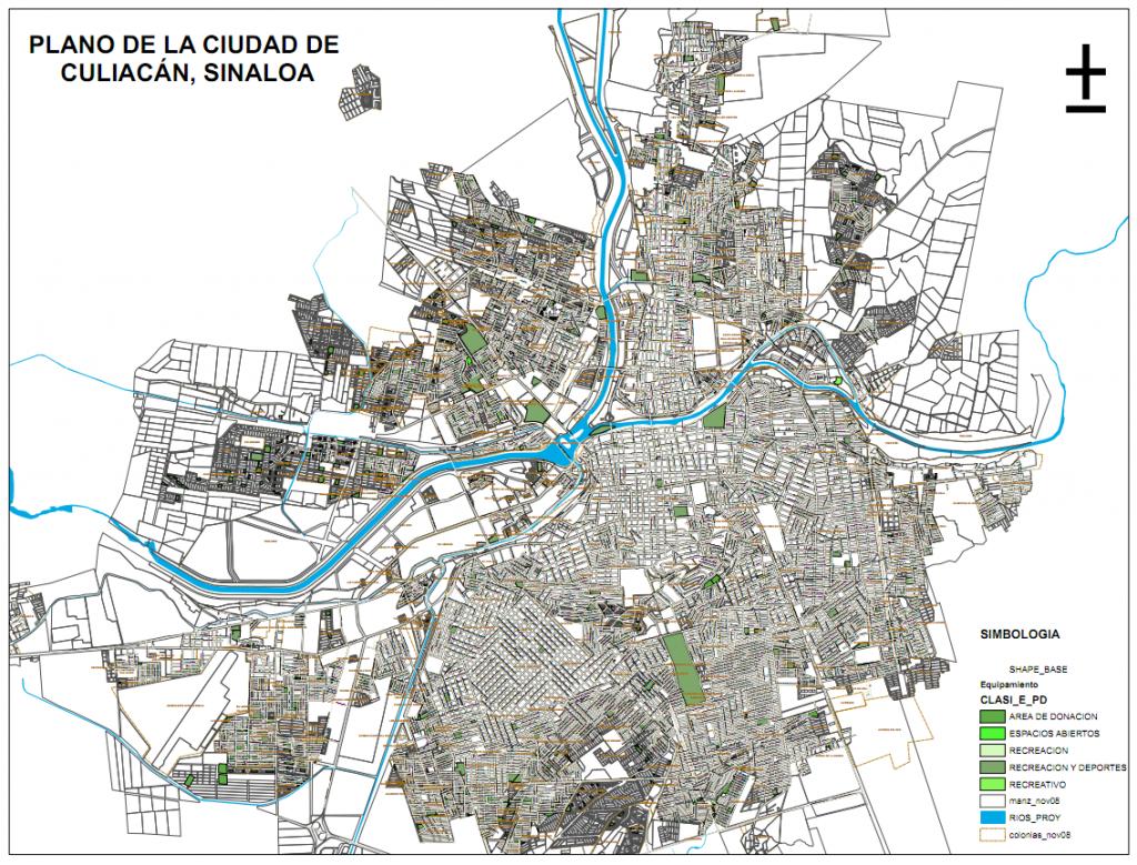 Mapa De 225 Reas Verdes En Culiac 225 N Parques Alegres I A P