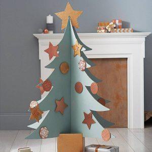 Decoracion navideña arbol carton