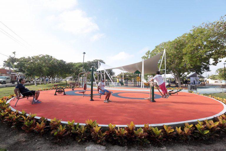 Obtener aparatos de ejercicio en parques - Parques Alegres I.A.P.