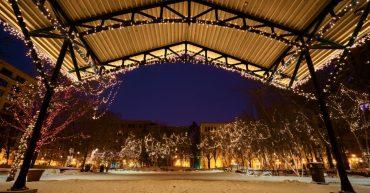 fiesta de Navidad en tu parque