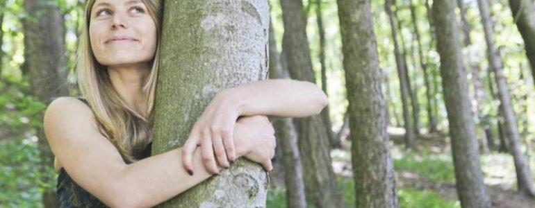 beneficios de abrazar un árbol