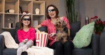 cine en casa en fin de semana